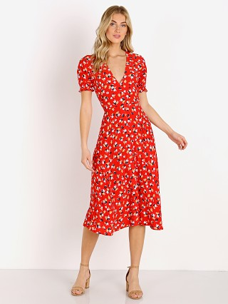 Faithfull the Brand Ari Midi Dress Jasmine Red