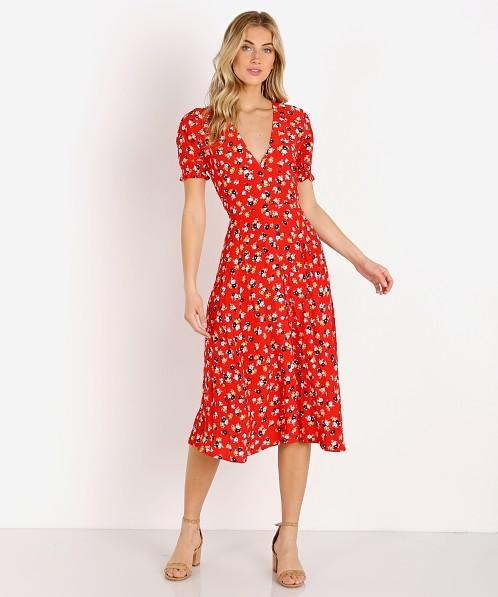 d10c6b8e455 Faithfull the Brand Ari Midi Dress Jasmine Red FF1316-JFR - Free Shipping  at Largo Drive