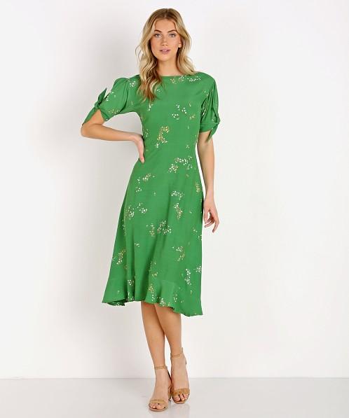 79b53492b3ae Faithfull the Brand Emilia Midi Dress Myrtille Floral Print FF1324-MFG -  Free Shipping at Largo Drive