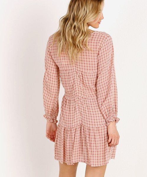Faithfull the Brand La Gallion Dress Emilinah Check Print