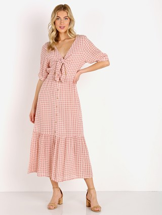 Faithfull the Brand Maple Midi Dress Emilinah Check Print