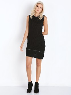 Finders Keepers Garden State Knit Dress Black