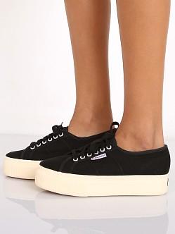 Superga Acotw Linea Up And Down Platform Sneaker Black