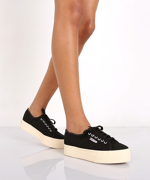 sito affidabile 30c3a 15c1a Superga Acotw Linea Up and Down Platform Sneaker Black