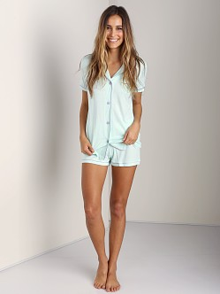 Cosabella Bella Short Sleeve Boxer PJ Set Moonlight Jade
