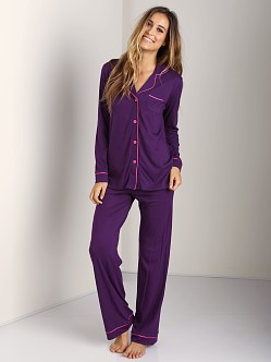 Cosabella Bella Long Sleeve PJ Set Amethyst/Miami Pink