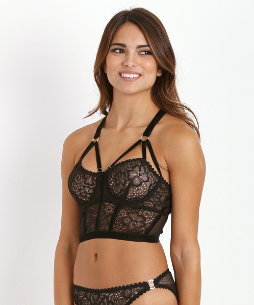 Lonely Sable Underwire Longline Bra Black