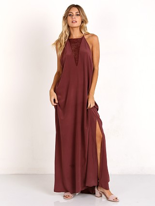 Acacia Makawao Dress Rayon Merlot