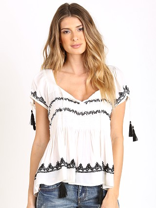 Tularosa Benny Peasant Top White