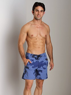 G-Star RCO Cargo Swim Short Camo Dolphin Blue