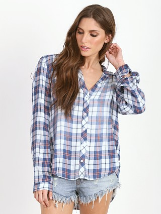Bella Dahl Button Down Indigo Plaid
