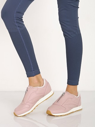 Model in shell pink Reebok Classic Zip From Sneaker