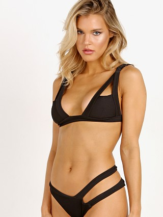 Kopper & Zink Logan Bikini Top Ribbed Black