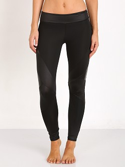 SOLOW Embossed Leather Legging Black