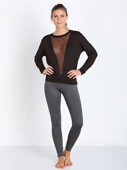 SOLOW French Terry Mesh Sweatshirt Black