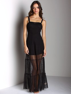 Free People Long Slip Black