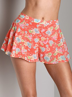 Free People Pleated Skort Coral Combo