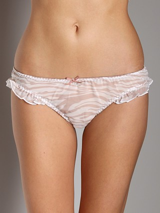 Blush Wild Heart Thong Zebra