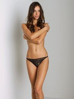 Calvin Klein BLACK Lace String Thong Black