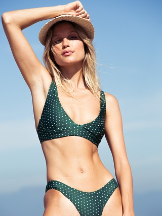 Model in herbal daisy dot Stone Fox Swim Ziggy Top