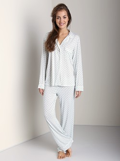 Eberjey Sleep Chic PJ Set Printed Seaglass/Taupe