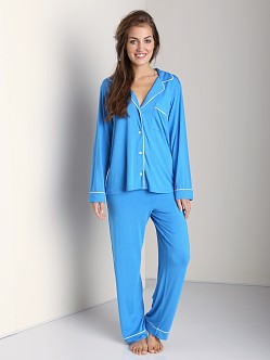 Eberjey Gisele PJ Set Blue Crush/Ivory