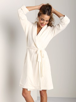 Eberjey Alpine Chic Classic Robe Winter White