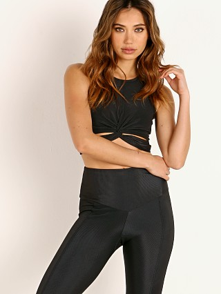 Onzie Twist Front Crop Top Black