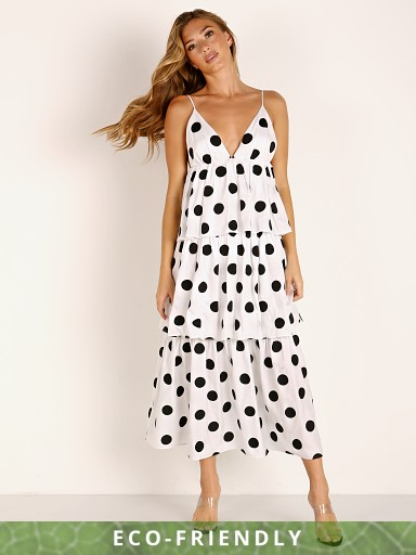 Mara Hoffman Bari Tiered Maxi Dress Rhumba Dot