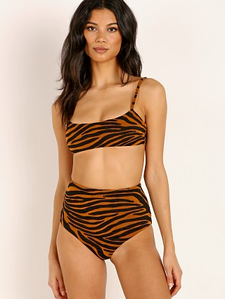 Complete the look: Mara Hoffman Sia Bikini Top Tigre Print Brown Clay
