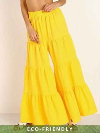 Model in yellow Mara Hoffman Shelesea Pant