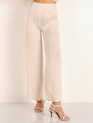 Model in champagne Stillwater The Sunset Wide Leg Pant