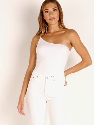 Model in white Stillwater The Cali Bodysuit
