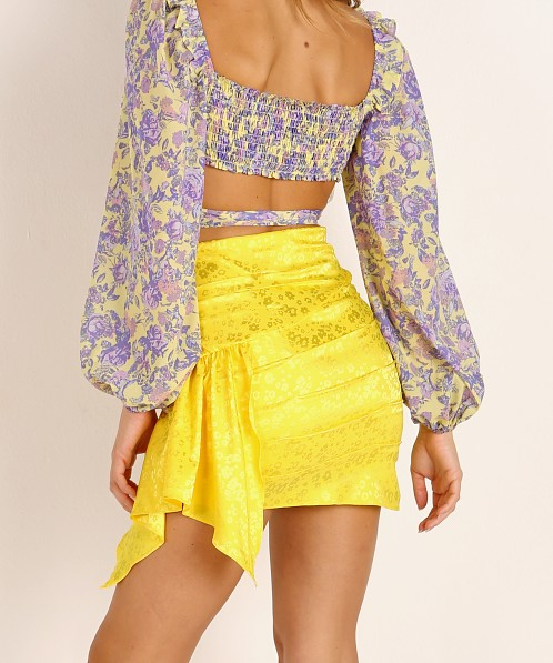 For Love & Lemons Fiji Mini Skirt Pineapple