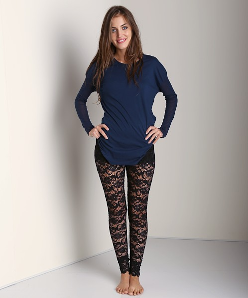 Nightcap Dixie Lace Pant Black