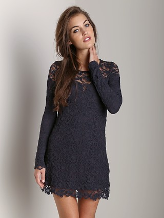 Nightcap Dixie Lace Dress Charcoal