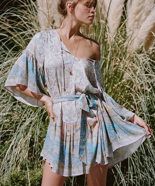 08c8f25524aa Spell & The Gypsy Oasis Mini Dress Opal 184713A41 - Free Shipping at Largo  Drive