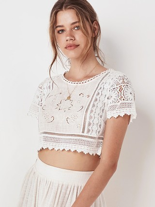 You may also like: Spell & The Gypsy Abigail Lace Cropped Top White