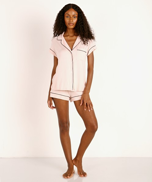 Eberjey Gisele Short PJ Set Sorbet/Black