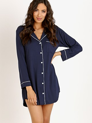 Eberjey Gisele Sleep Shirt Navy/Ivory