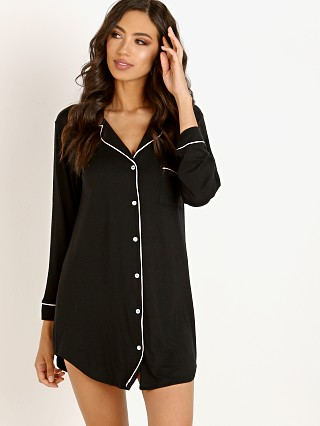 Eberjey Gisele Sleep Shirt Black/Sorbet