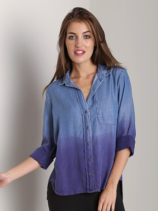 Bella Dahl Shirttail Button Down Iris Dip Dyed