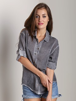 Bella Dahl Dart Front Shirt Coal