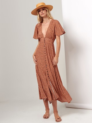 KIVARI Maxi Dress Stella Leopard