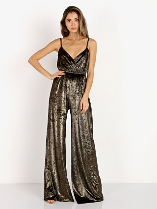 Show Me Your Mumu The Richards Jumpsuit Jonny Gold Velvet