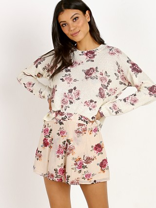 Show Me Your Mumu Cropped Varisty Sweater Blushing Buddies