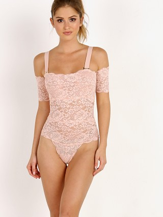 Model in copper rose Hot As Hell I Stopped It Bodysuit