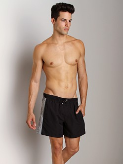 Emporio Armani Binding Silver Swim Shorts Black