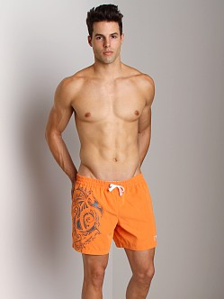 Emporio Armani Maori Swim Shorts Orange