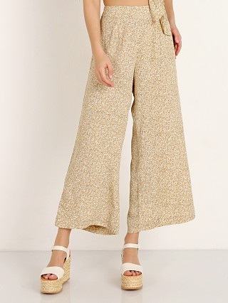 Model in dream garden sand Blue Life Carley High Waisted Culotte